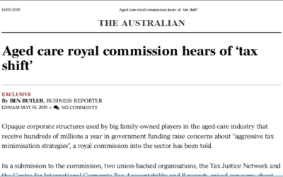 Aged care royal commission hears of 'tax shift'
