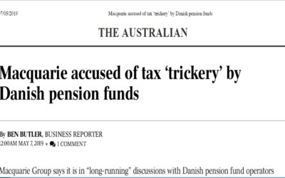 Macquarie accused of tax 'trickery' by Danish pension funds