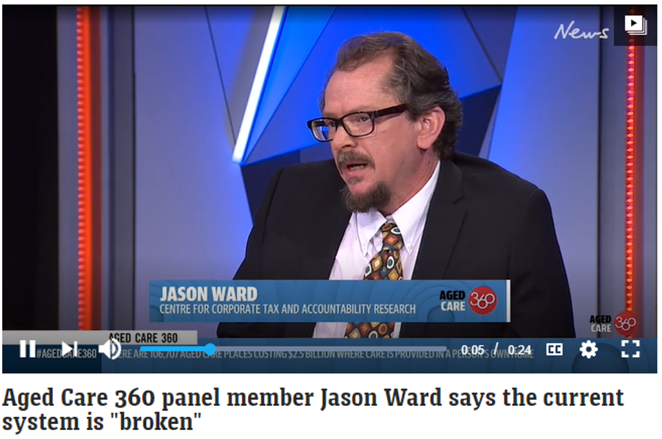 """Aged Care 360 panel member Jason Ward says the current system is """"broken"""""""