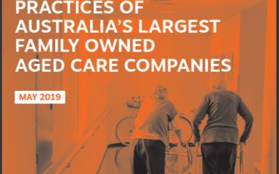 ALL IN THE FAMILY: Tax and Financial Practices of Australia's largest Family-Owned Aged Care Companies