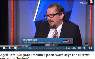"Aged Care 360 panel member Jason Ward says the current system is ""broken"""